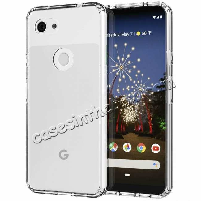 wholesale For Google Pixel 3a Phone Case Crystal Clear Soft TPU Transparent Back Cover