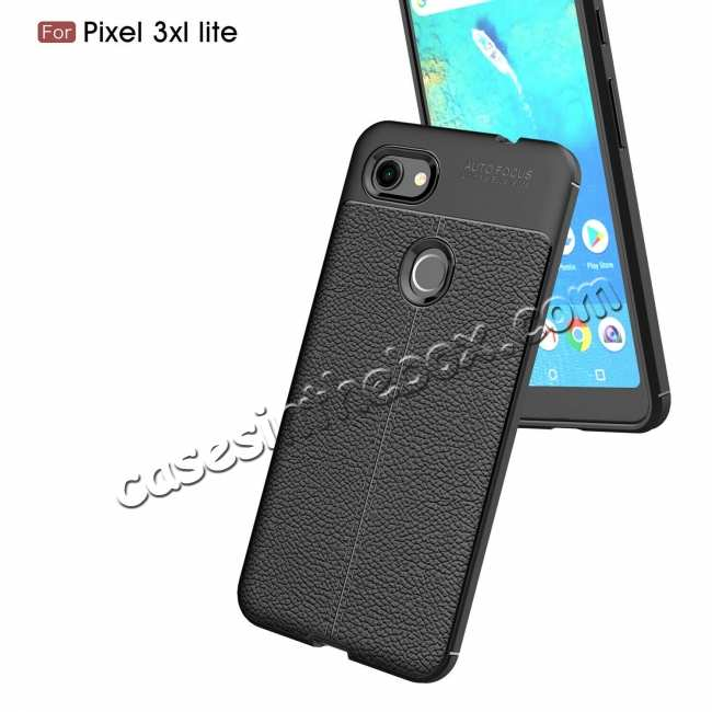 discount For Google Pixel 3a XL Case With Screen Protector Soft Anti Slip Shockproof TPU Cover Grey