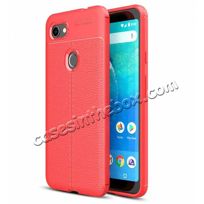 wholesale For Google Pixel 3A XL Case Shockproof Soft TPU Slim Silicone Matte Back Cover Red
