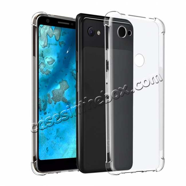 wholesale For Google Pixel 3a XL Phone Case Soft Clear Transparent ShockProof TPU Cover