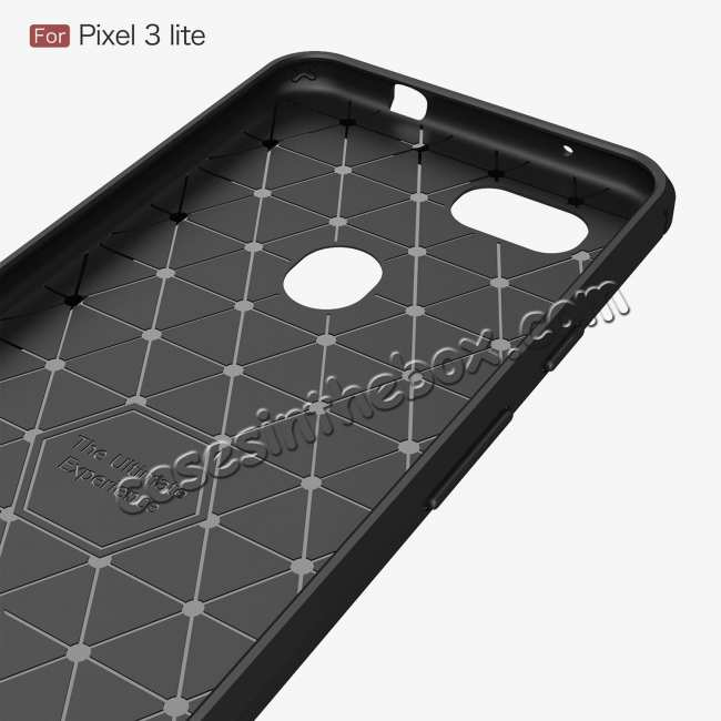 top quality For Google Pixel 3a Case Soft Carbon Fibre Fiber Brushed Gel Tough Cover Red