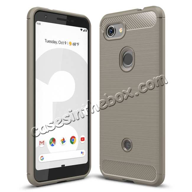 wholesale For Google Pixel 3a Case Soft Premium Flexible TPU Protection Cover Grey