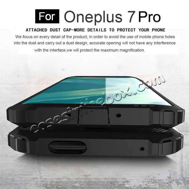top quality For OnePlus 7 / 7 Pro Hybrid Armor Shockproof Rugged Bumper Case Gold