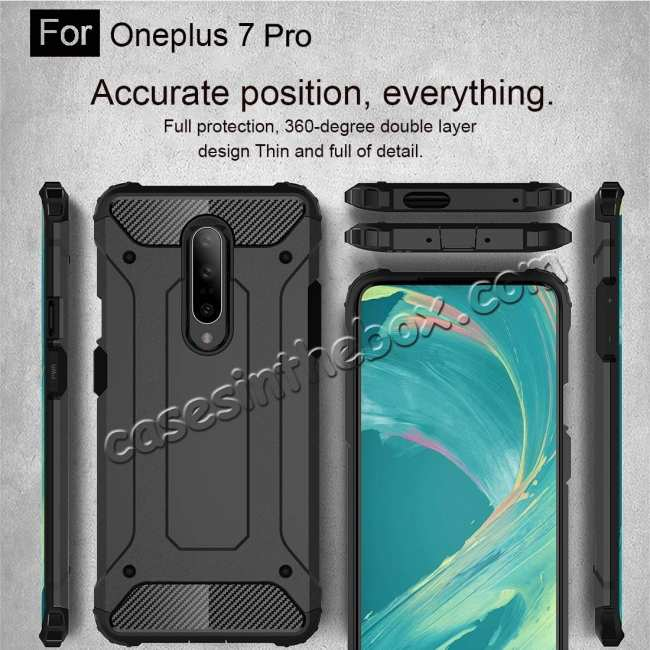 best price For OnePlus 7 / 7 Pro Shockproof Hybrid Hard Armor Phone Case Red