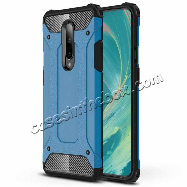 wholesale For OnePlus 7 / 7 Pro Case Cover Protective Hybrid Rugged Shockproof Sky Blue
