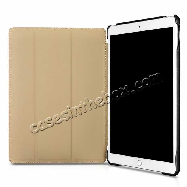 cheap Case for iPad Air 10.5 2019 ICARER Vintage Series Genuine Leather - Black