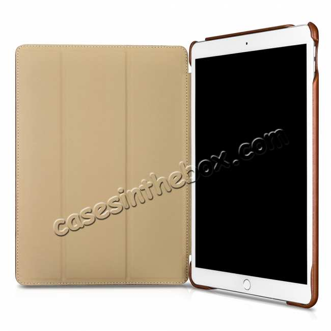 cheap Case for iPad Air 10.5 2019 ICARER Vintage Series Genuine Leather - Brown