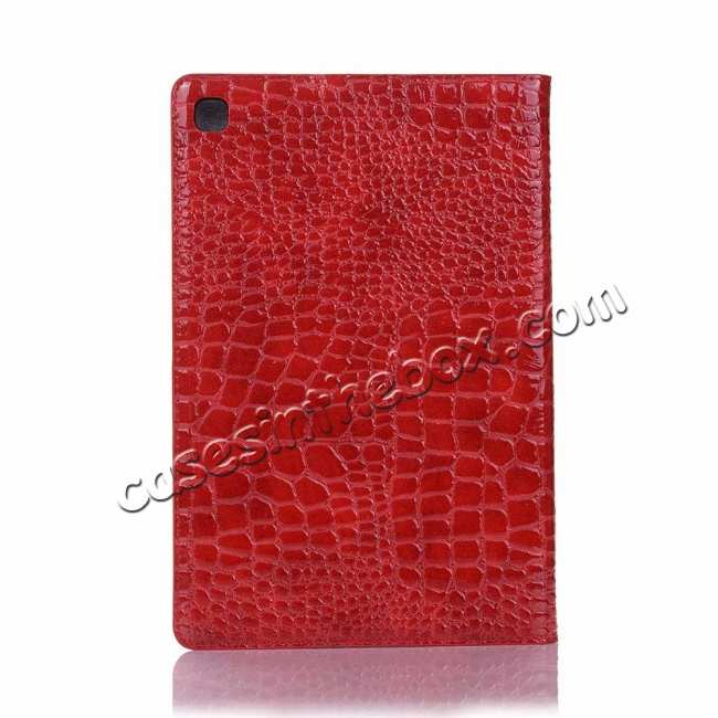 top quality For Samsung Galaxy Tab S5e 10.5 T720 T725 Crocodile Skin Leather Case - Red
