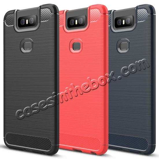 wholesale For ASUS ZenFone 6(2019) Case Slim Soft Rubber TPU Shockproof Phone Cover