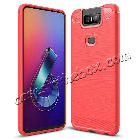 cheap For ASUS ZenFone 6(2019) Case Slim Soft Rubber TPU Shockproof Phone Cover