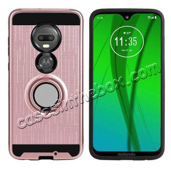 discount For Motorola Moto G7/G7 Plus Shockproof Rugged Case With Ring Stand Holder Cover