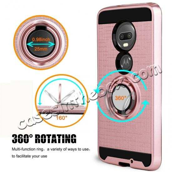 top quality For Motorola Moto G7/G7 Plus Shockproof Rugged Case With Ring Stand Holder Cover