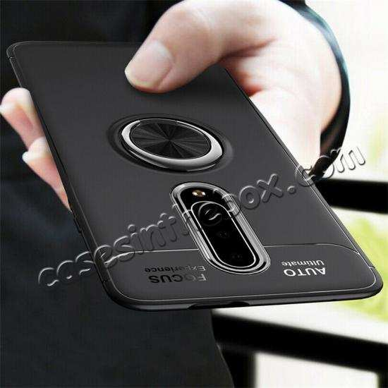 wholesale For OnePlus 7 7 Pro Case Slim Hybrid Magnetic Ring Stand Holder Cover