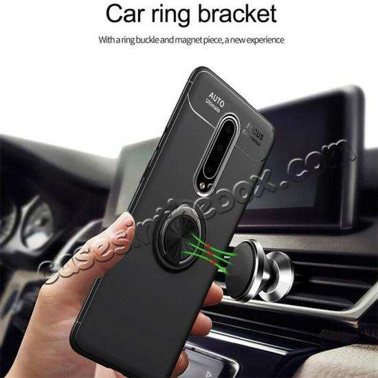 cheap For OnePlus 7 7 Pro Case Slim Hybrid Magnetic Ring Stand Holder Cover