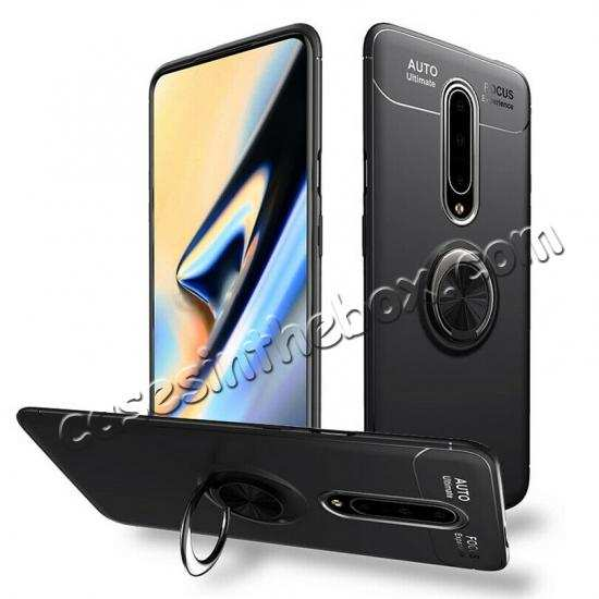 best price For OnePlus 7 7 Pro Case Slim Hybrid Magnetic Ring Stand Holder Cover