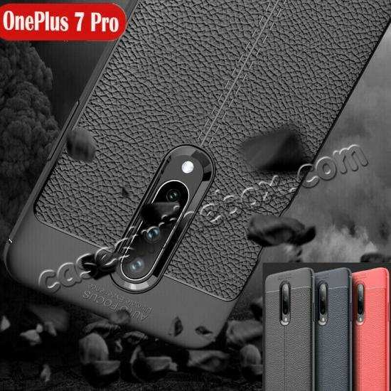 wholesale For OnePlus 7 Pro Case Slim Shockproof Leather Silicone Soft Cover