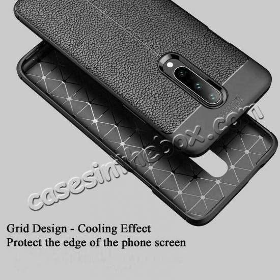 cheap For OnePlus 7 Pro Case Slim Shockproof Leather Silicone Soft Cover