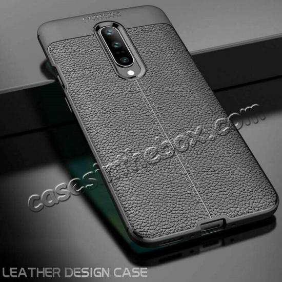 best price For OnePlus 7 Pro Case Slim Shockproof Leather Silicone Soft Cover