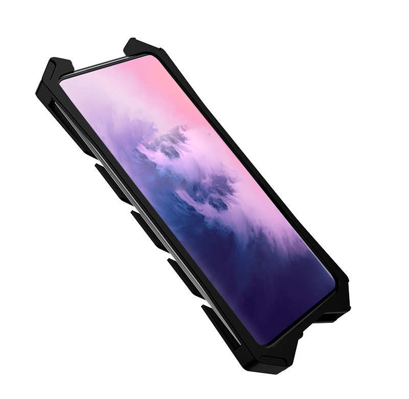 cheap For OnePlus 7 Pro Shockproof Aluminum Metal Case - Black