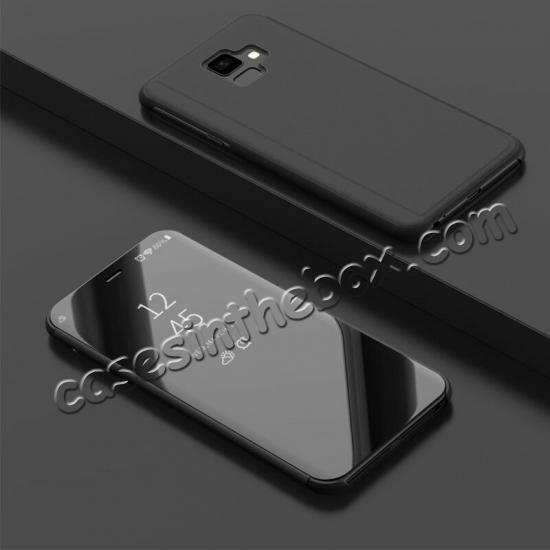 discount For OnePlus 7 7T 8 Pro Phone Case Smart View Mirror Leather Stand Flip Cover
