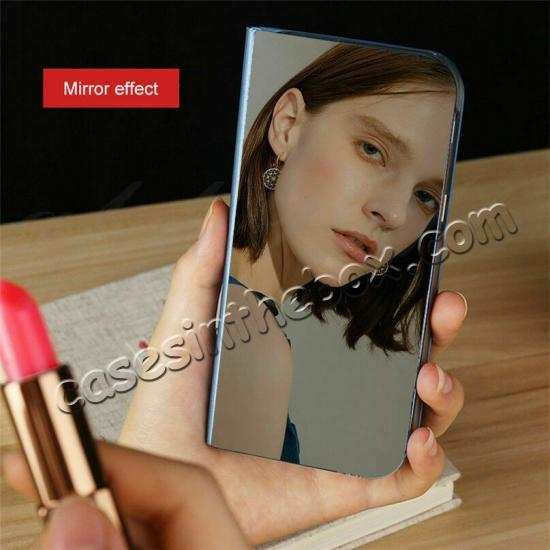 best price For OnePlus 7 7T 8 Pro Phone Case Smart View Mirror Leather Stand Flip Cover
