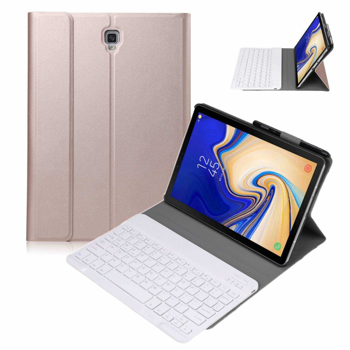wholesale For Samsung Galaxy Tab S5e 10.5 SM-T720/T725 Detachable Bluetooth Keyboard Leather Case - Rose Gold