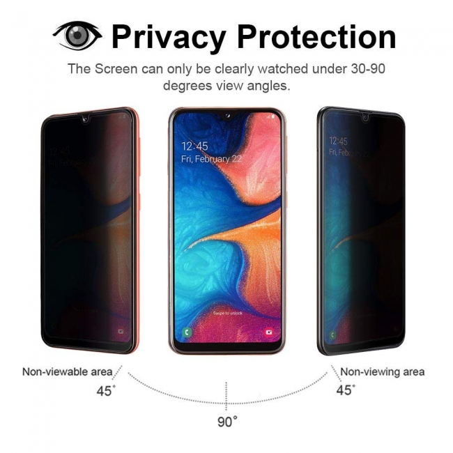 wholesale For Samsung Galaxy A20e Privacy Anti-Spy Tempered Glass Screen Protector