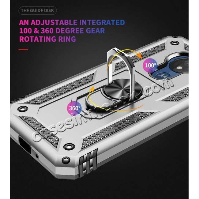 best price For Motorola Moto G7 Supra Case Ring Holder Magnetic Stand Phone Cover