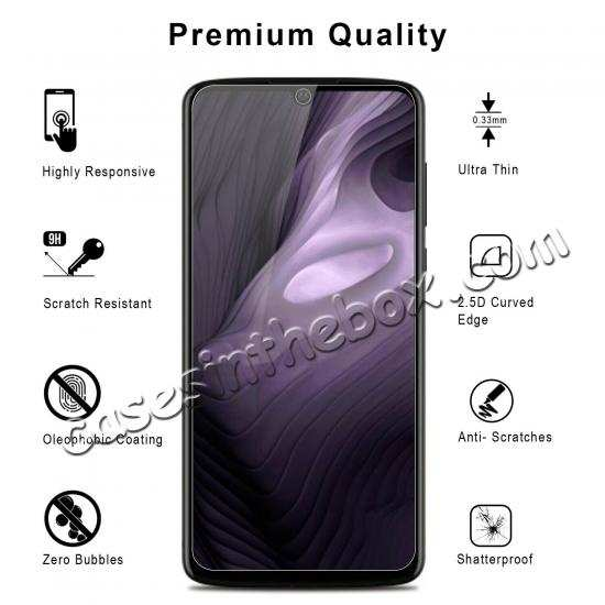 wholesale For Motorola Moto Z4 Clear 9H HD Tempered Glass Screen Protector Film Cover