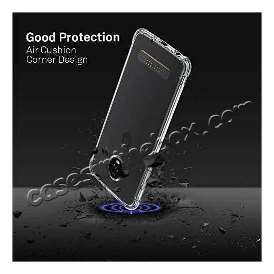 top quality For Motorola Moto Z4 Shockproof Crystal Clear Slim Soft Rubber Cover