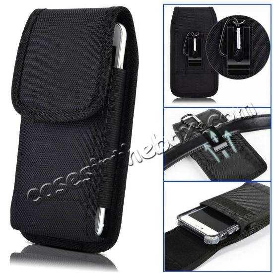 best website e5d75 8a1ff For Motorola Moto Z4 Vertical Pouch Case Cover With Belt Clip Holster