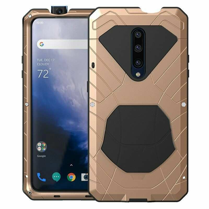wholesale For OnePlus 7 Pro Case Metal Aluminum Heavy Duty Shockproof Cover Gold