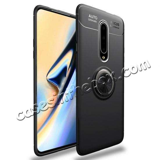 wholesale For OnePlus 7 Pro Case Shockproof TPU Magnetic Ring Holder Stand Cover