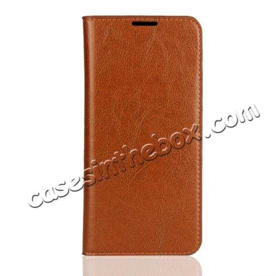best price For Samsung Galaxy S20 Ultra Plus S10 Plus A50 Genuine Leather Flip Card Slots Wallet Phone Case Cover