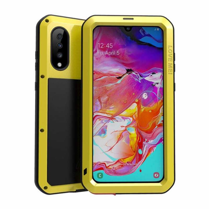 wholesale For Samsung Galaxy A71 A51 Note 20 Ultra 5G 70 Aluminum Metal Case Gorilla Glass Shockproof Cover