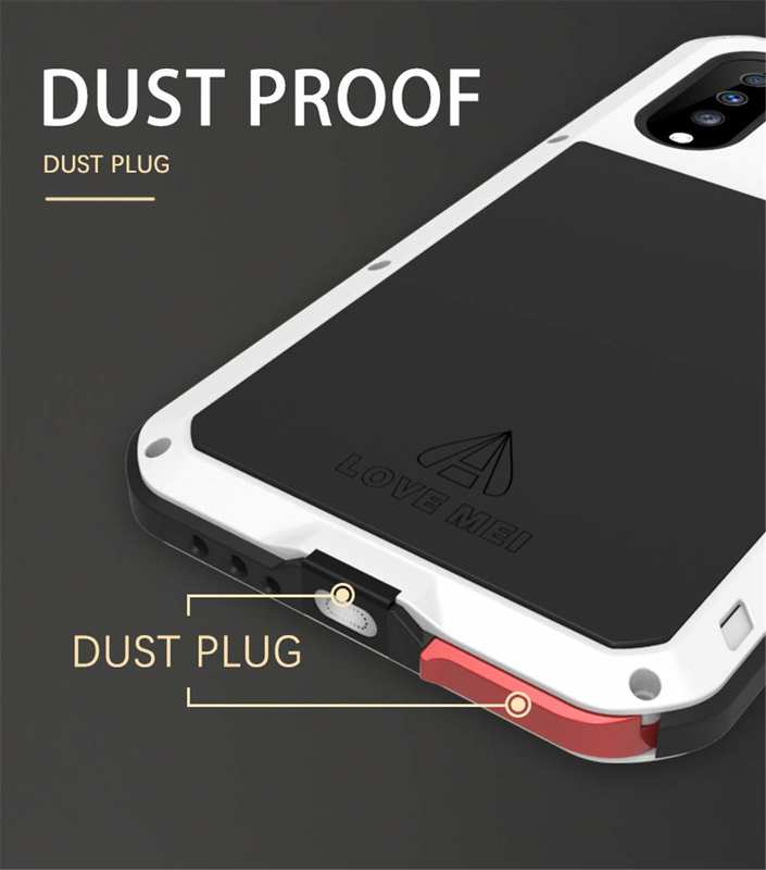best price For Samsung Galaxy A70 Case Aluminum Metal Waterproof Shockproof Dustproof Cover Black