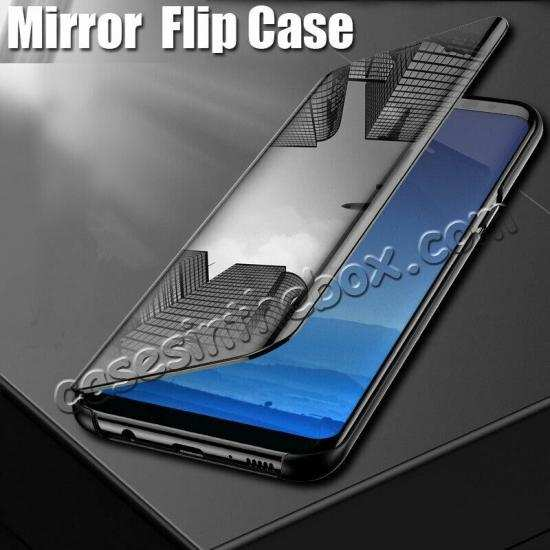 discount For Samsung Galaxy A80 Smart View Screen Touch Mirror Flip Stand Case Cover