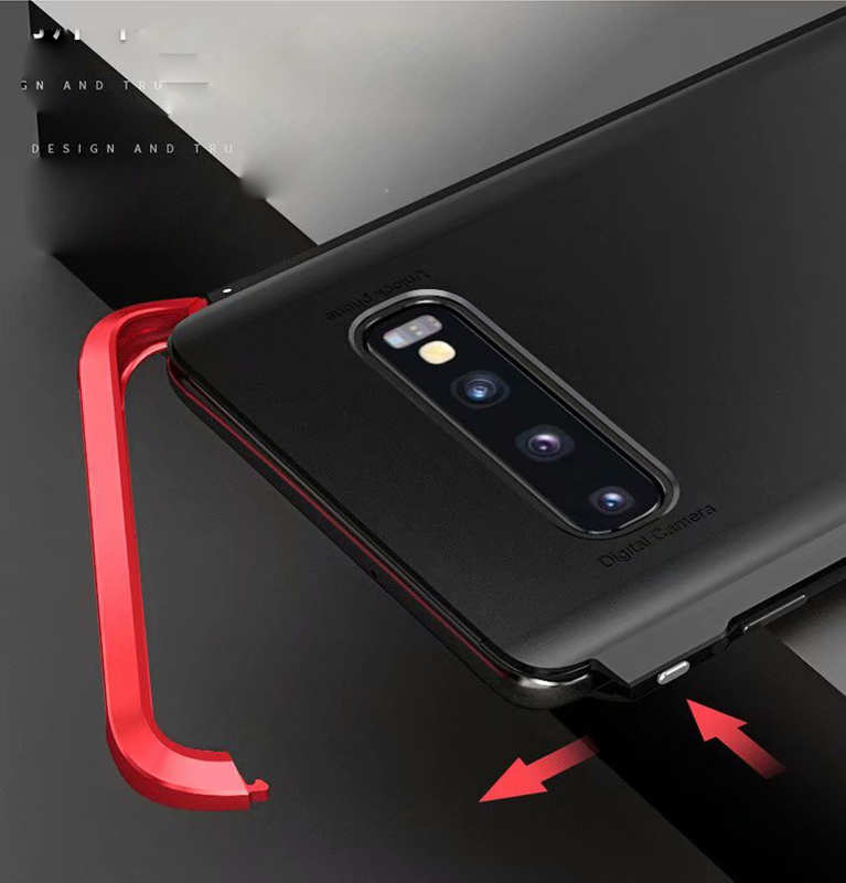 cheap For Samsung Galaxy S10 Plus Shockproof Hybrid Case - Black
