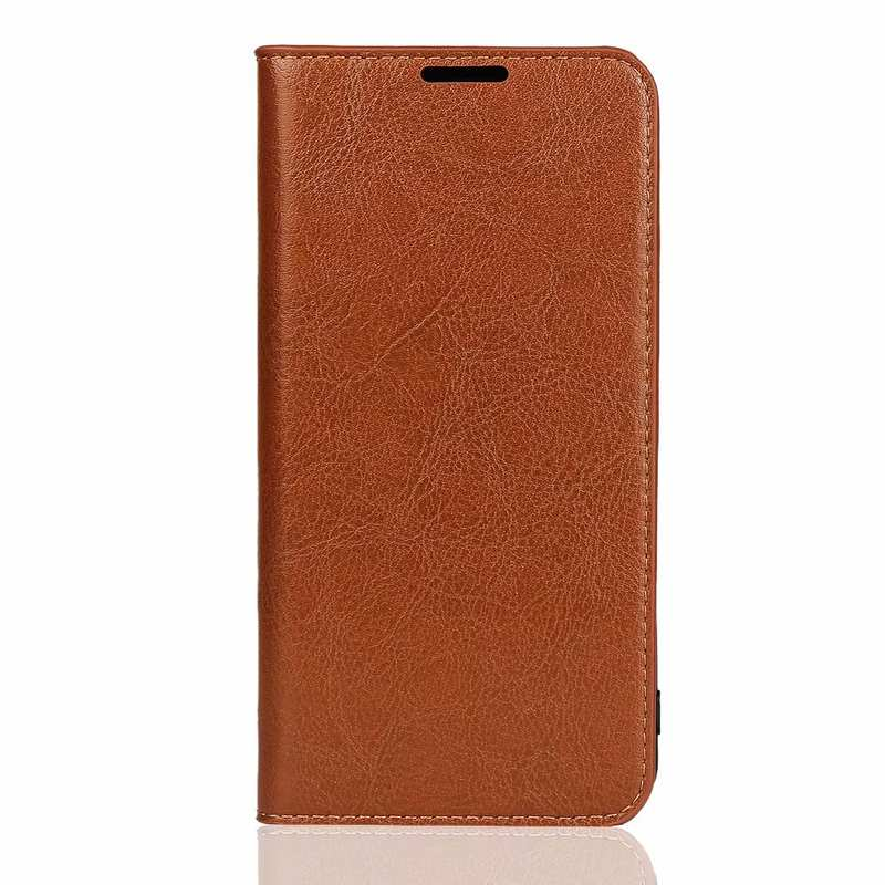 discount For Huawei Honor 20 Crazy Horse Wallet Flip Genuine Leather Case - Brown
