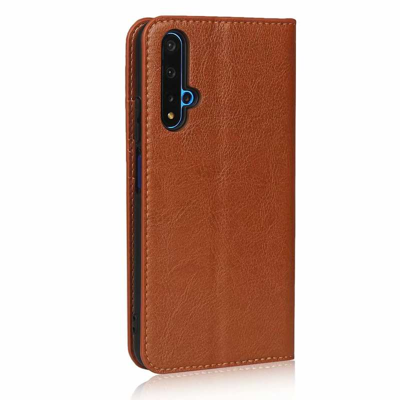 cheap For Huawei Honor 20 Crazy Horse Wallet Flip Genuine Leather Case - Brown