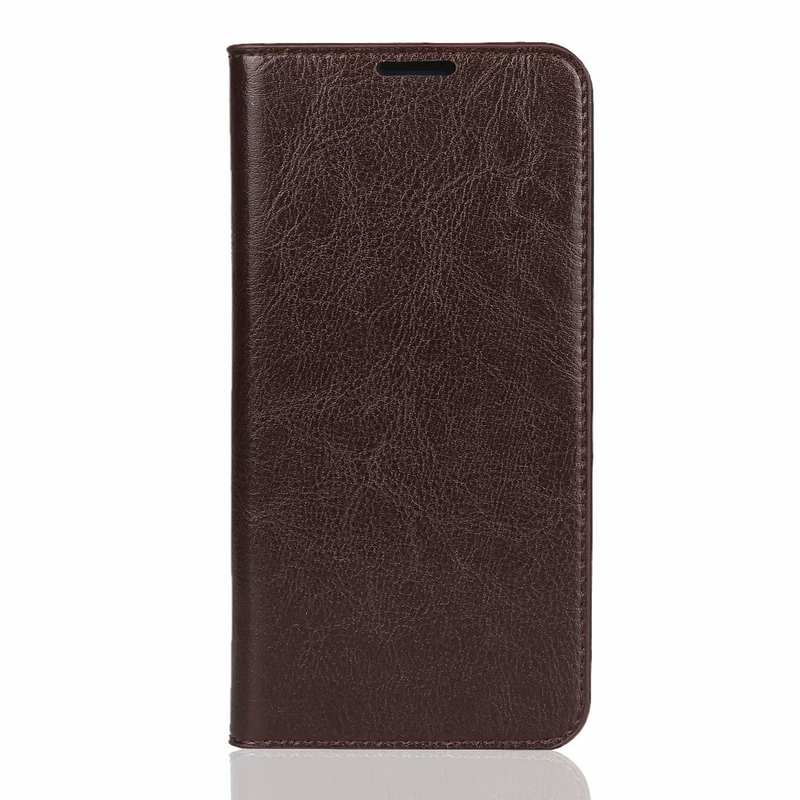 discount For Huawei Honor 20 Crazy Horse Wallet Flip Genuine Leather Case - Dark Brown