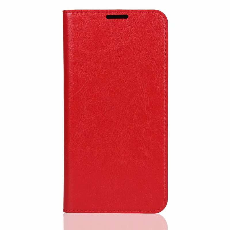 discount For Huawei Honor 20 Crazy Horse Wallet Flip Genuine Leather Case - Red