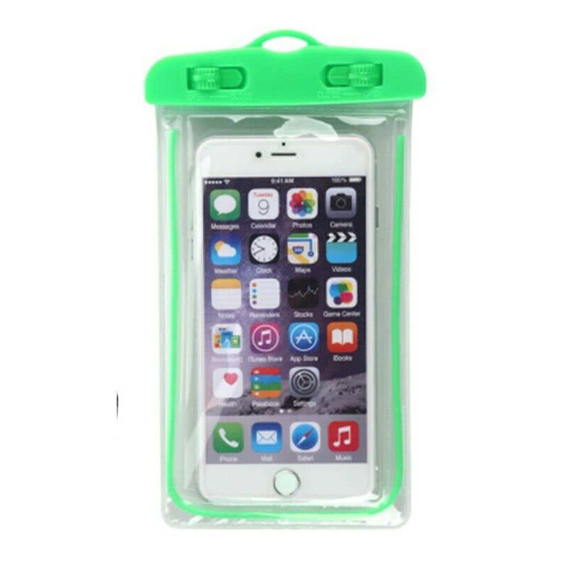 wholesale For LG G8 / G8S ThinQ Mobile Phone Waterproof Dry Case Bag Pouch - Green