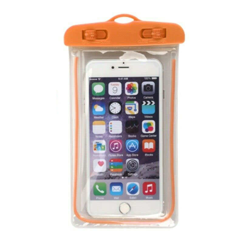 wholesale For LG G8 / G8S ThinQ Mobile Phone Waterproof Dry Case Bag Pouch - Orange