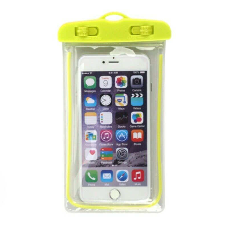 wholesale For LG G8 / G8S ThinQ Mobile Phone Waterproof Dry Case Bag Pouch - Yellow