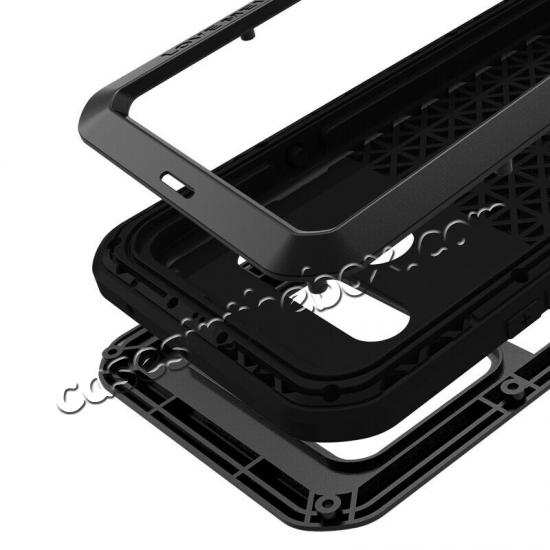 best price For LG G8S ThinQ Metal Shockproof Aluminum Case Cover - Black