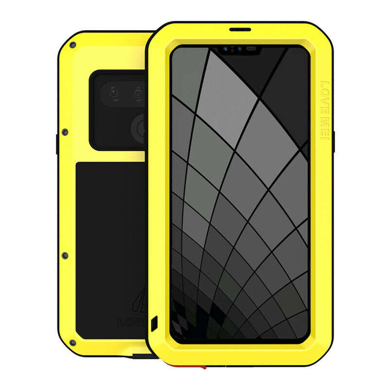 wholesale For LG G8S ThinQ Powerful Shockproof Aluminum Metal Cover Case - Yellow