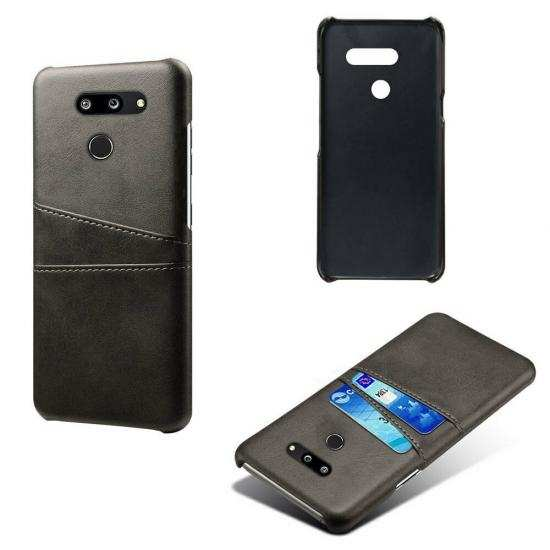 discount For LG G8 ThinQ Shockproof PU Leather Case Card Slot Back Cover