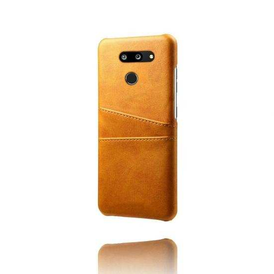 top quality For LG G8 ThinQ Shockproof PU Leather Case Card Slot Back Cover