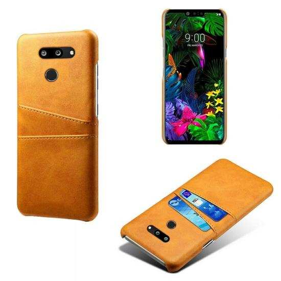 cheap For LG G8 ThinQ Shockproof PU Leather Case Card Slot Back Cover